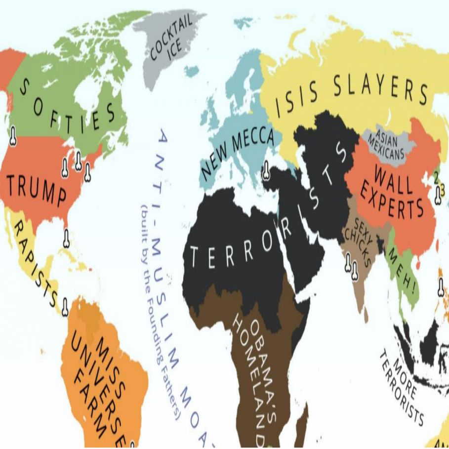 Someone Made A Map Of The World According To Donald Trump