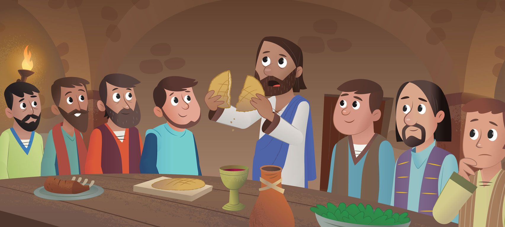 in new bible app for kids story u201ca goodbye meal u201d jesus shares