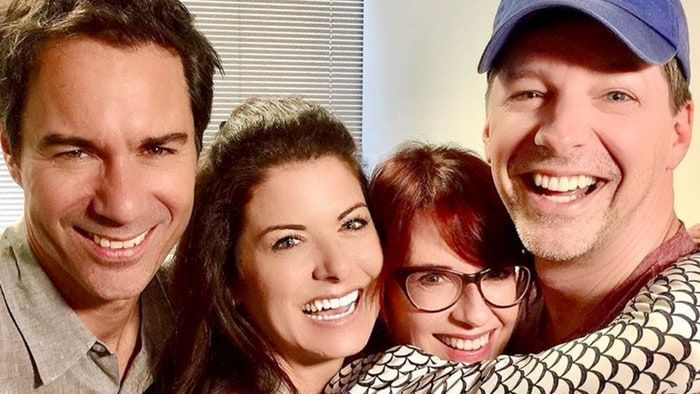 The cast of 'Will & Grace' reunited on Saturday, September 24, at Megan Mullally and Nick Offerman's comedy show — see the sweet photos