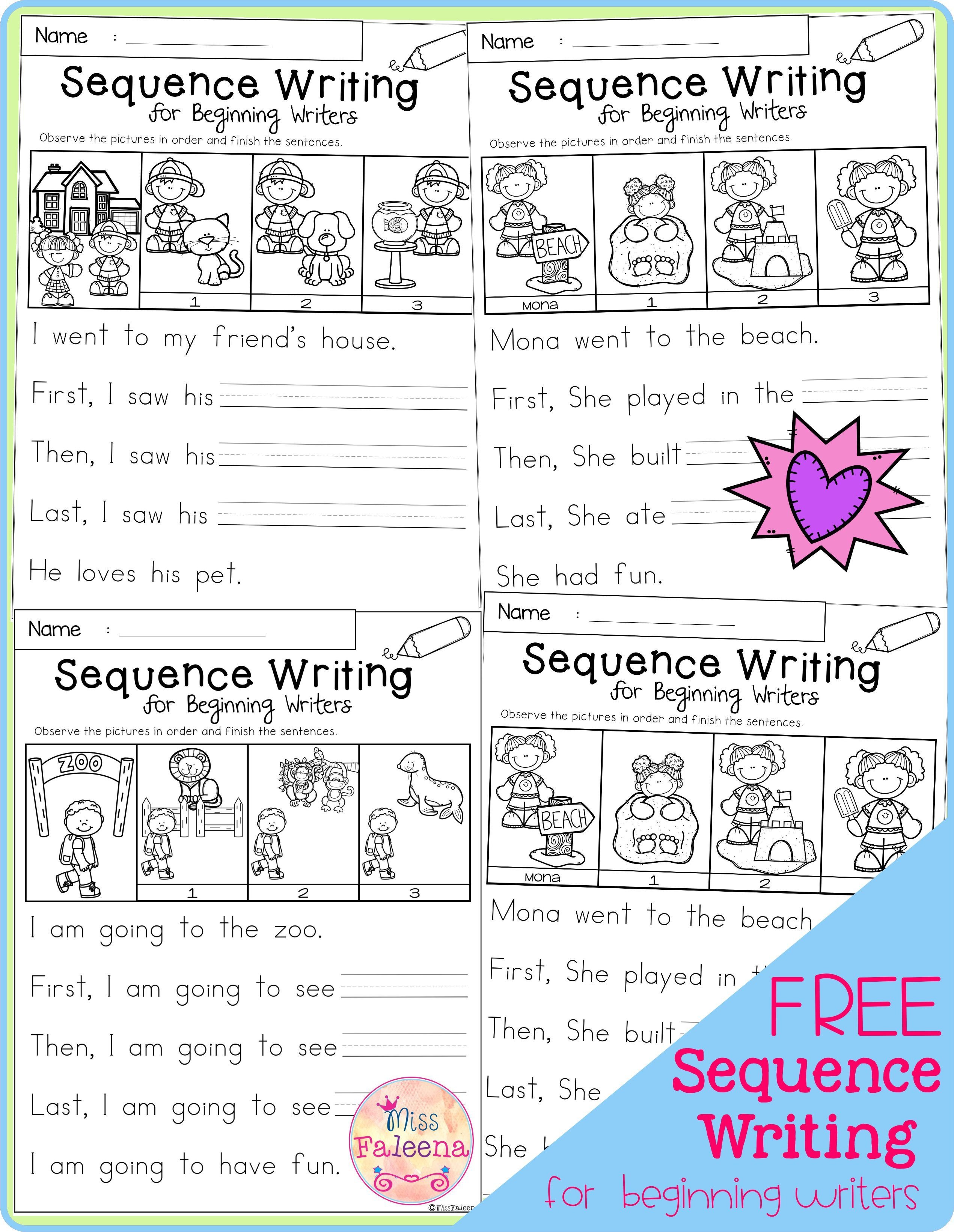 Free Sequence Writing For Beginning Writers Di