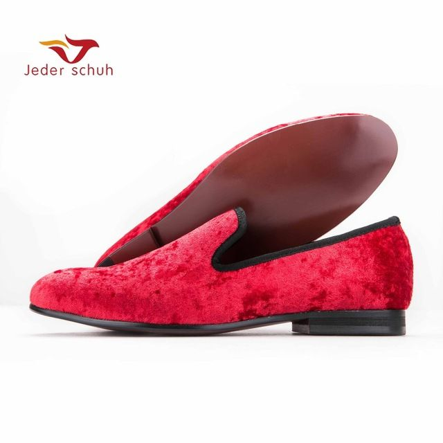f7a8c6e4fef Fair price Jeder Schuh new Five color men new velvet flats shoes Banquet  and Prom men dress shoes Fashion smoking slippers male loafers just only   85.80 ...