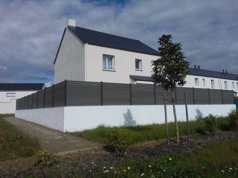 Clotures Composite Nantes : clôture grise en bois composite Océwood ...