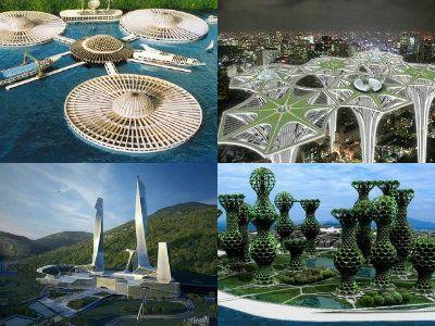現実世界での建設を前提に考えられた、未来都市のコンセプトが紹介されていました。かなり斬新な都市計画であることから、計画途中で止まっているものもいくつかありますが、本当に実現したら1度は訪れてみ