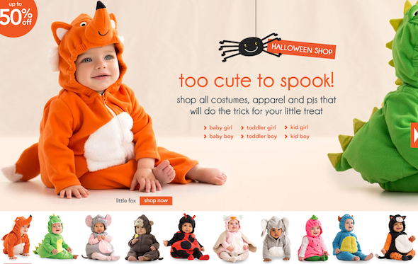 b1f5a5fdd Toddler and Infant Halloween Costumes at Carters for Up to 500ff 20romo  Code!