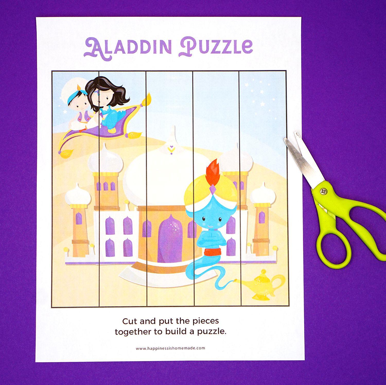Free Aladdin Themed Printable Preschool Worksheets