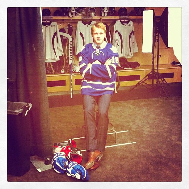 Morgan Rielly poses for his photoshoot