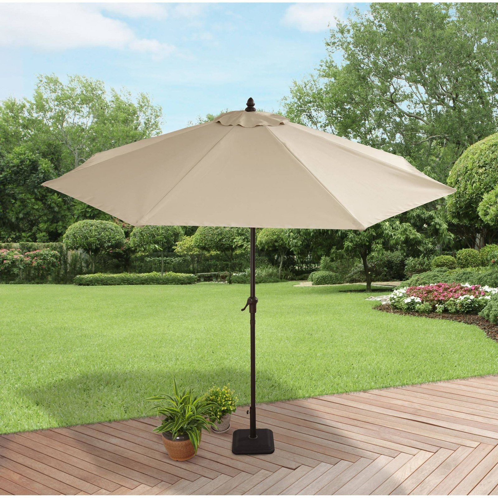 Rectangular Garden Parasol Patio Large Outdoor Market Umbrella Green Rugs Home, Furniture & DIY