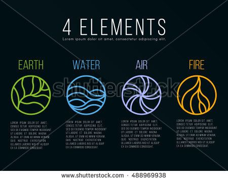 earth air fire water stock images royalty free images vectors