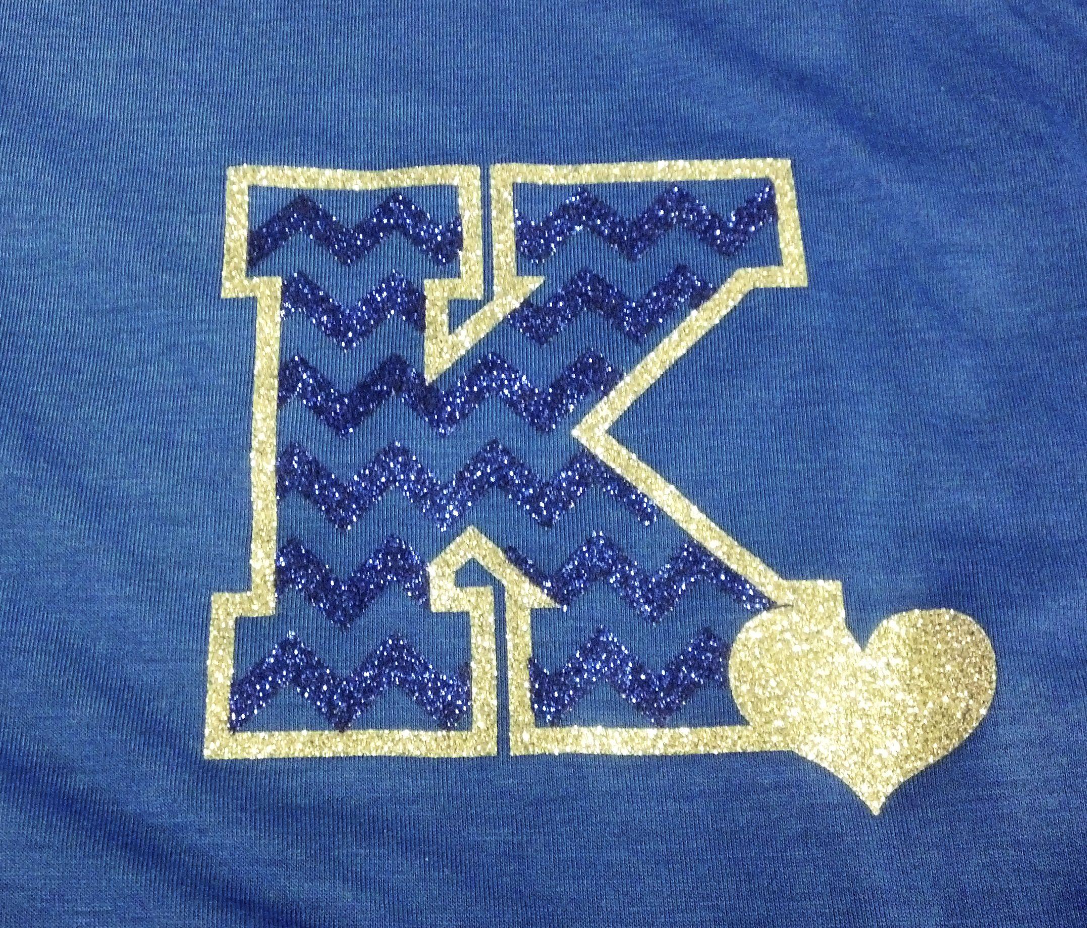 Shirt design press - Kenesaw Lady S Night Fundraiser Chevron Glitter Vinyl Glitter Heat Press Apparel Tee Shirt Designsglitter