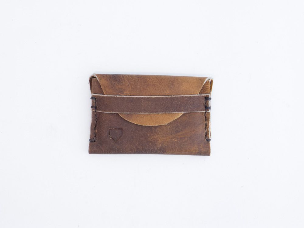 Image of Repurposed Vintage Leather Rawlings Glove Wallet 1