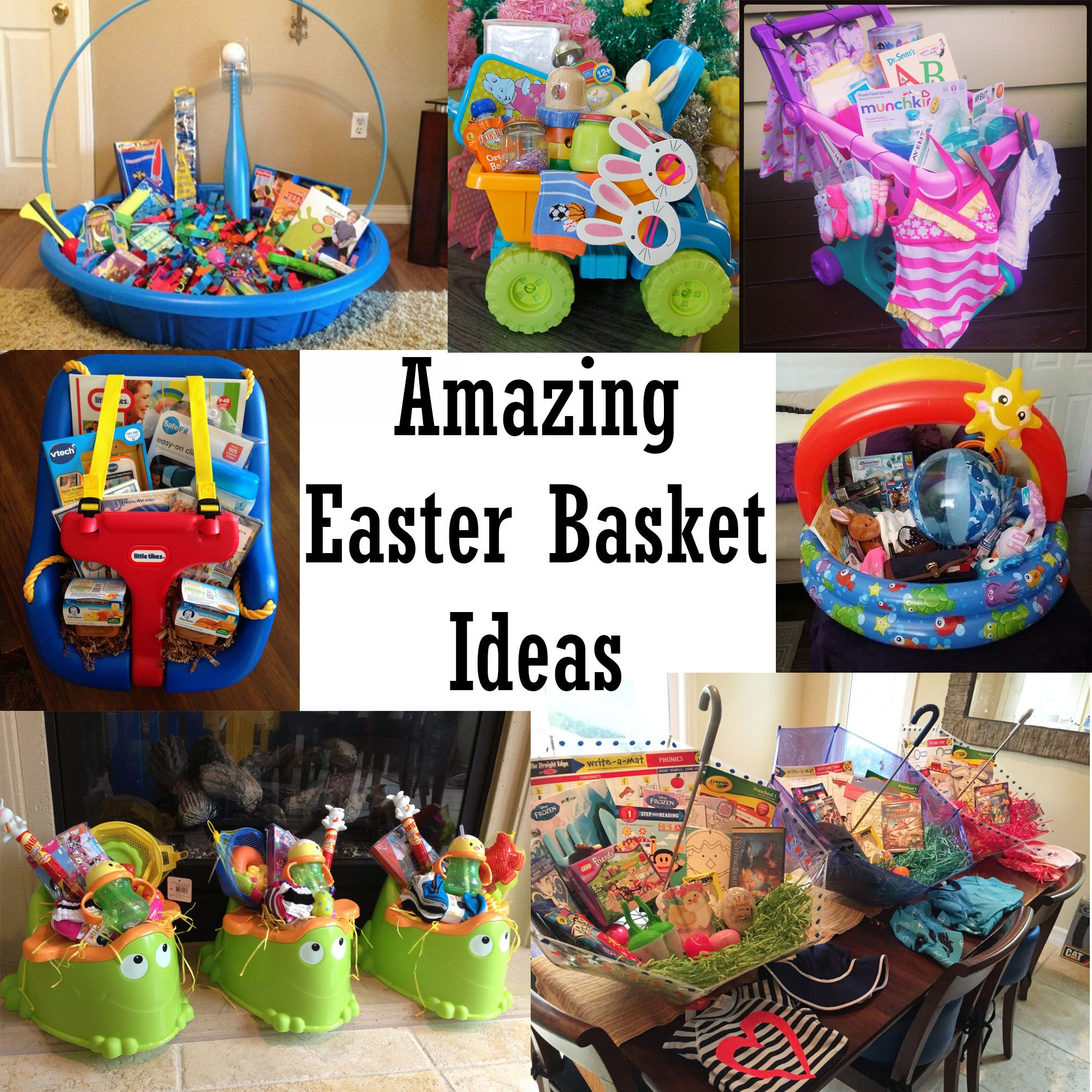 Amazing easter basket ideas basket ideas easter baskets and easter amazing easter basket ideas or just cute gift basket ideas too negle