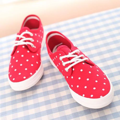 Dotted Casual Lace Up Sneaker Shoe