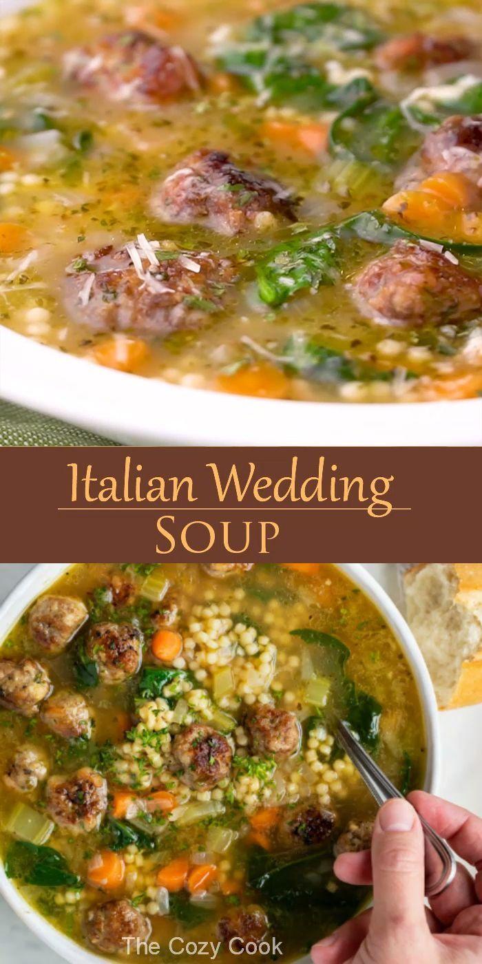 Italian Wedding Soup in 2020 Crockpot soup recipes