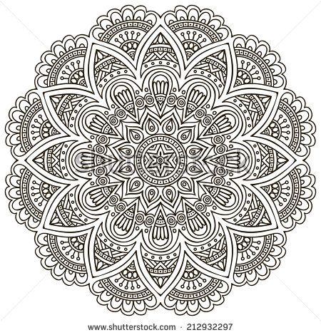 mandala round ornament pattern vintage decorative elements hand drawn background islam. Black Bedroom Furniture Sets. Home Design Ideas