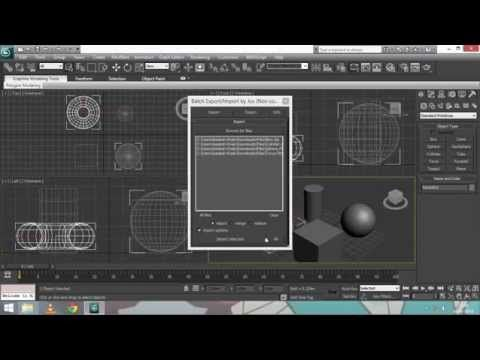 How To Import Multiple  OBJ,  FBX Files In 3ds Max - YouTube