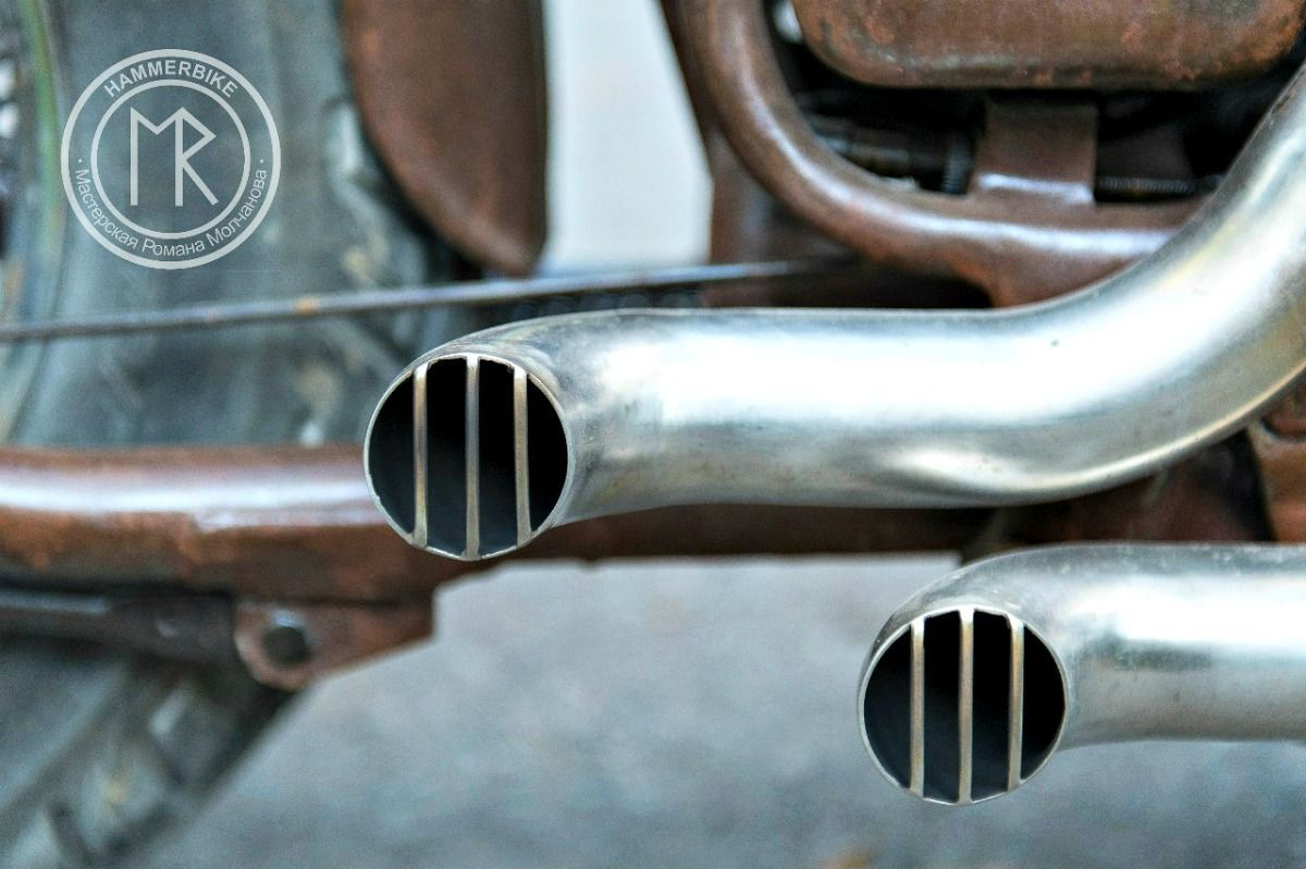 honda vt600 bobber exhaust tips Custom Built Honda Bobber & Chopper