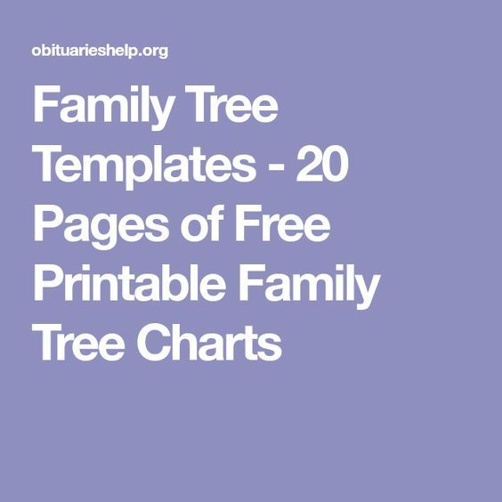family tree charts to fill in