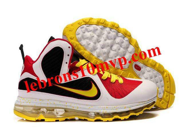 6a21cde500b9 Nike Air Max LeBron 9(IX) MVP Shoes Black Red White Yellow