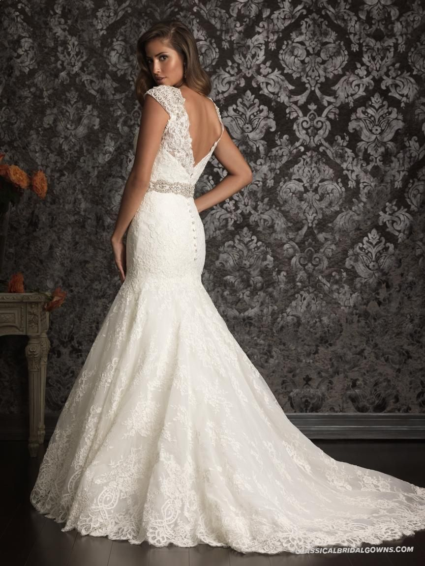 Well-known Allure Bridals 9010 Vintage Lace Wedding Dress | Lace ...