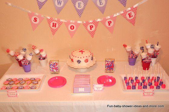 baby shower dessert table ideas sweet shoppe party lollipop baby shower ideas
