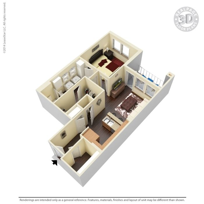 The Spinnaker 619 Sq Ft 1 Bed 1 Bath With Double Sinks And Huge Walk In Closet Apartments For Rent Spacious Living Room Floor Plans