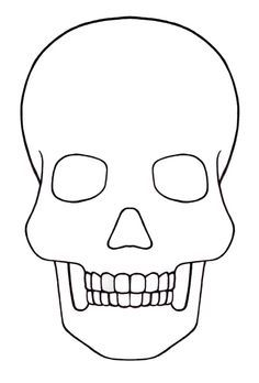 Dead Of The Dead Skull Template Sugar Skull Drawing Skull Coloring Pages
