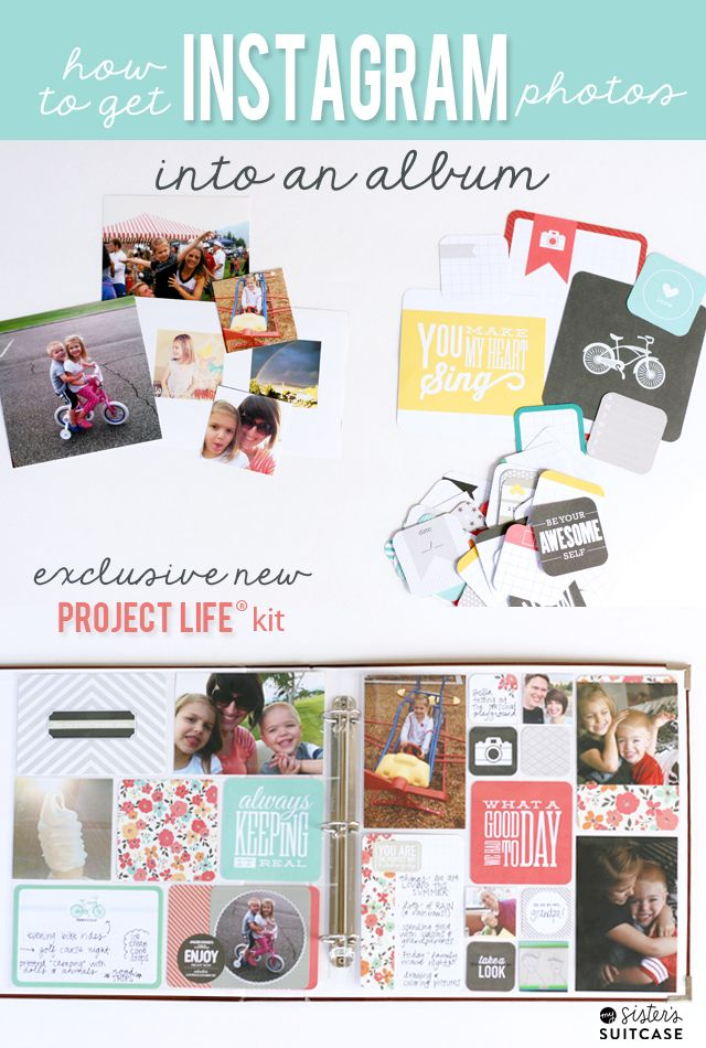 Use Instagram Photos in Project Life with Just Add Color!