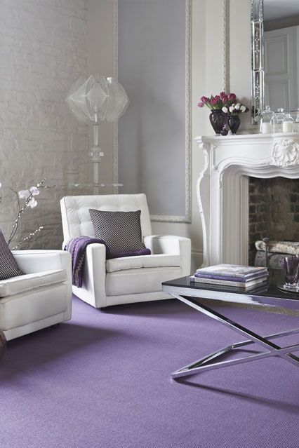 Living Room Ideas Room Furniture Design Purple Carpet