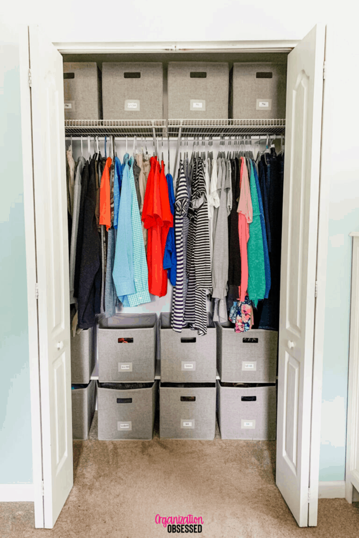 14 Closet Organization Ideas Organization Obsessed In 2020 Small Closet Organization Bedroom Closet Small Bedroom Small Bedroom Organization