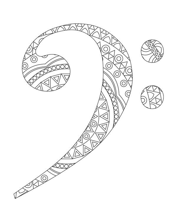 Sol and fa key coloring pages Adult coloring book by hedehede ...