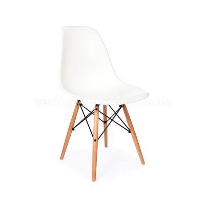 Eames Style DSW Chair   White U003e Eames U003e Designer   Vertigo Interiors