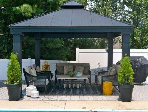 36 Spectacular Hardtop Gazebo Ideas Modern Gazebo Backyard
