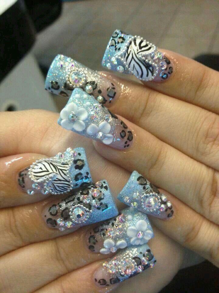 Nail art 》 | uñas estilo sinaloa T.M.M :) | Pinterest | Uñas ...