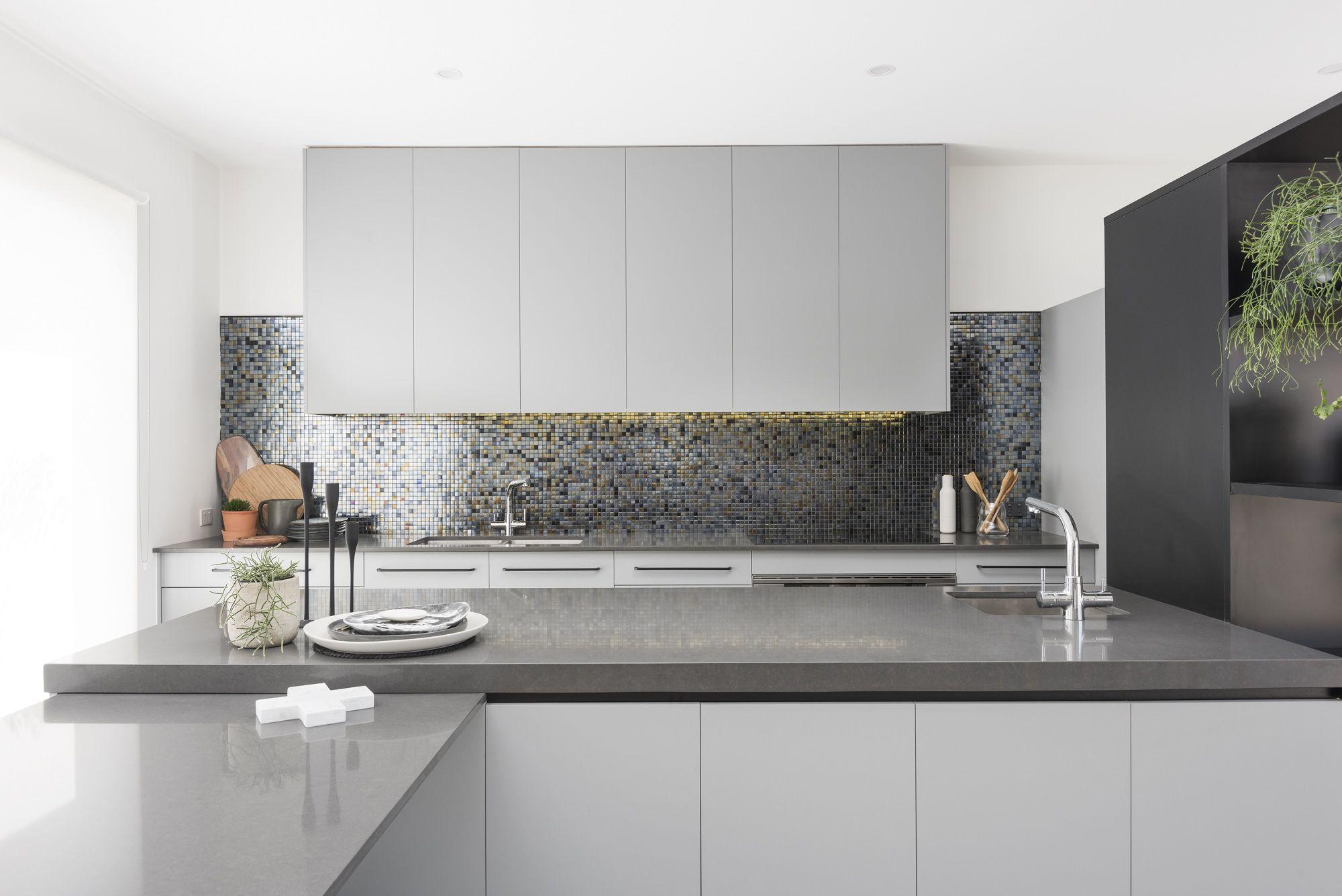 amber tiles kellyville kitchen splashback glass mosaic