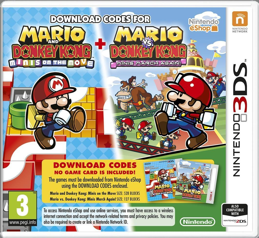 Mario And Donkey Kong + Mario Vs Donkey Kong 3ds Buscar
