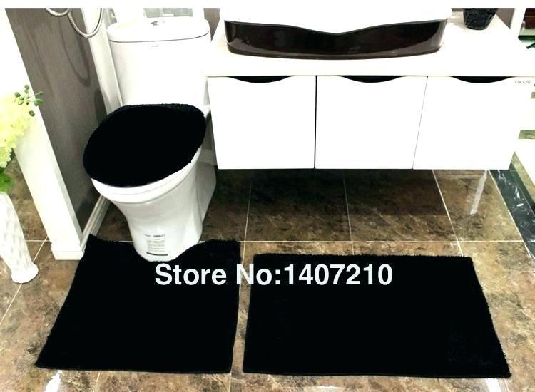 marvelous Black Bathroom Rug Sets Part - 13: Attractive 3 piece bathroom rug sets Snapshots, lovely 3 piece bathroom rug  sets for black