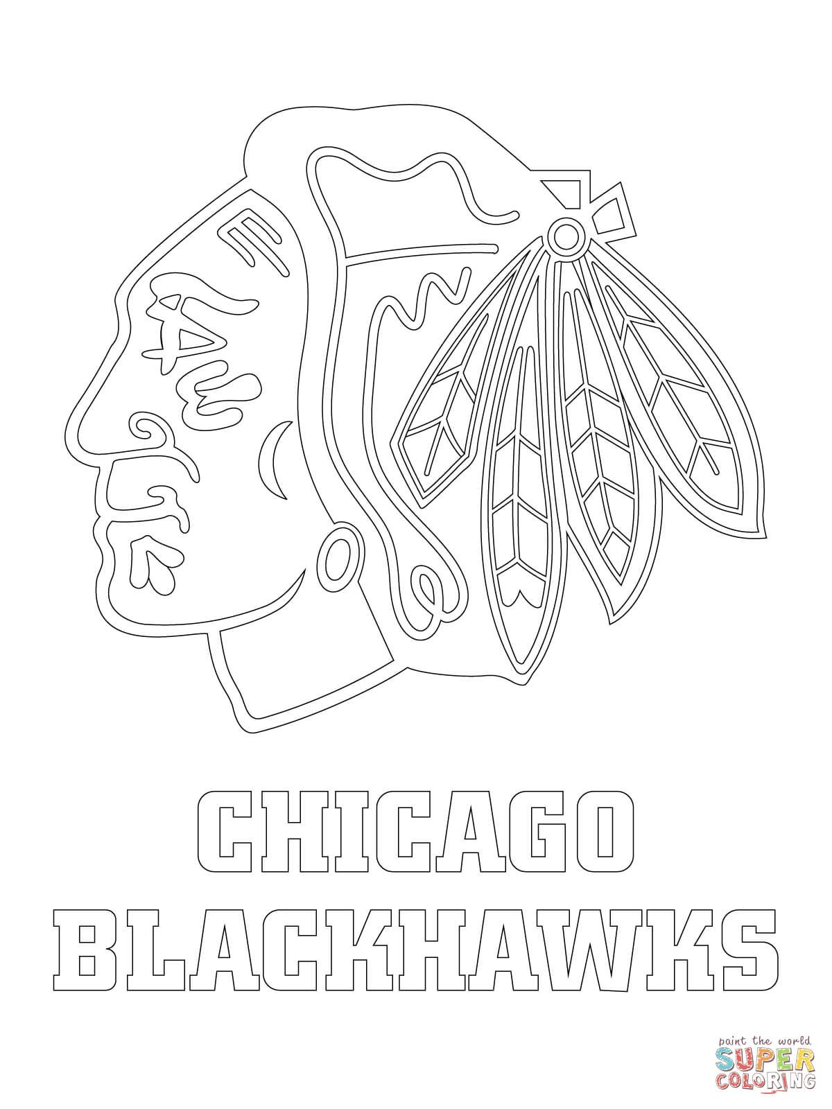 Chicago Blackhawks Logo Super Coloring Chicago Blackhawks