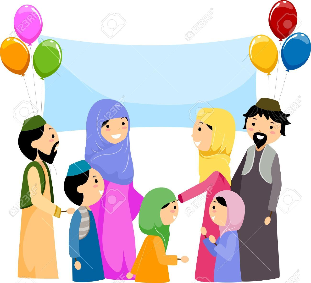 Vector Illustration Of Happy Muslim Kid Cartoon Colourbox Clipart
