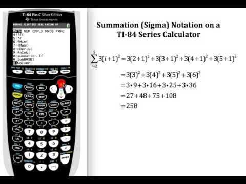 Summation sigma notation on the ti 84 graphing calculator ti summation sigma notation on the ti 84 graphing calculator ccuart Choice Image