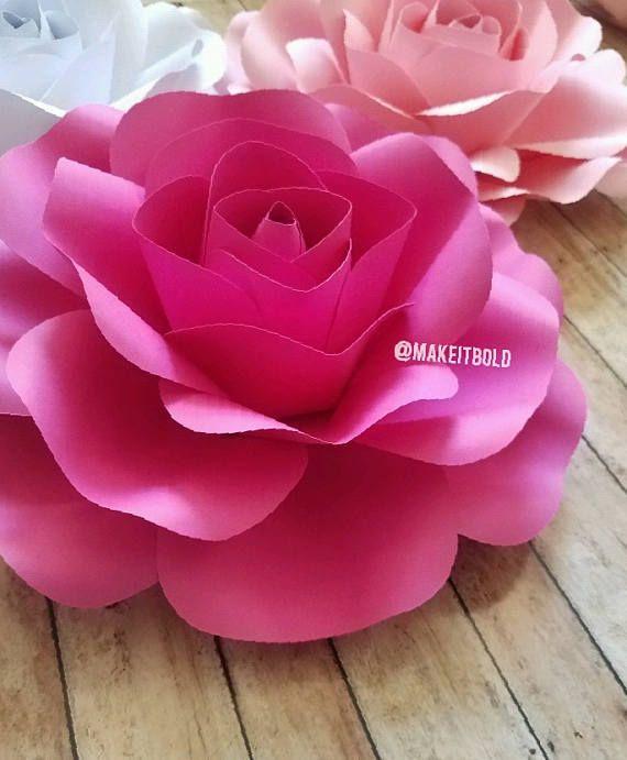 Flores De Papel Rosas De Papel Manualidades Flores Pinterest
