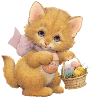 Image result for easter cat clipart