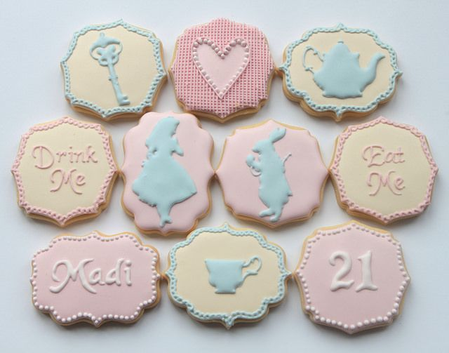 Pretty Alice in Wonderland cookies by Miss Biscuit
