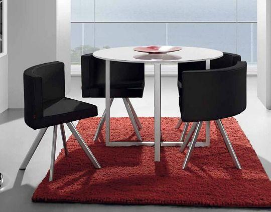 mesa de comedor para apartamentos pequeos este conjunto de mesa y cuatro sillas me parece ideal para apartamentos estudios o viviendas con falta de - Mesas De Comedor Pequeas