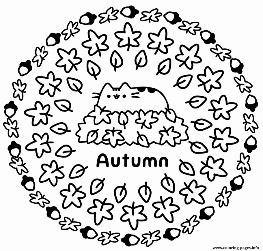 Pin By Madane On Pusheen Pusheen Coloring Pages Fall Coloring Pages Coloring Pages