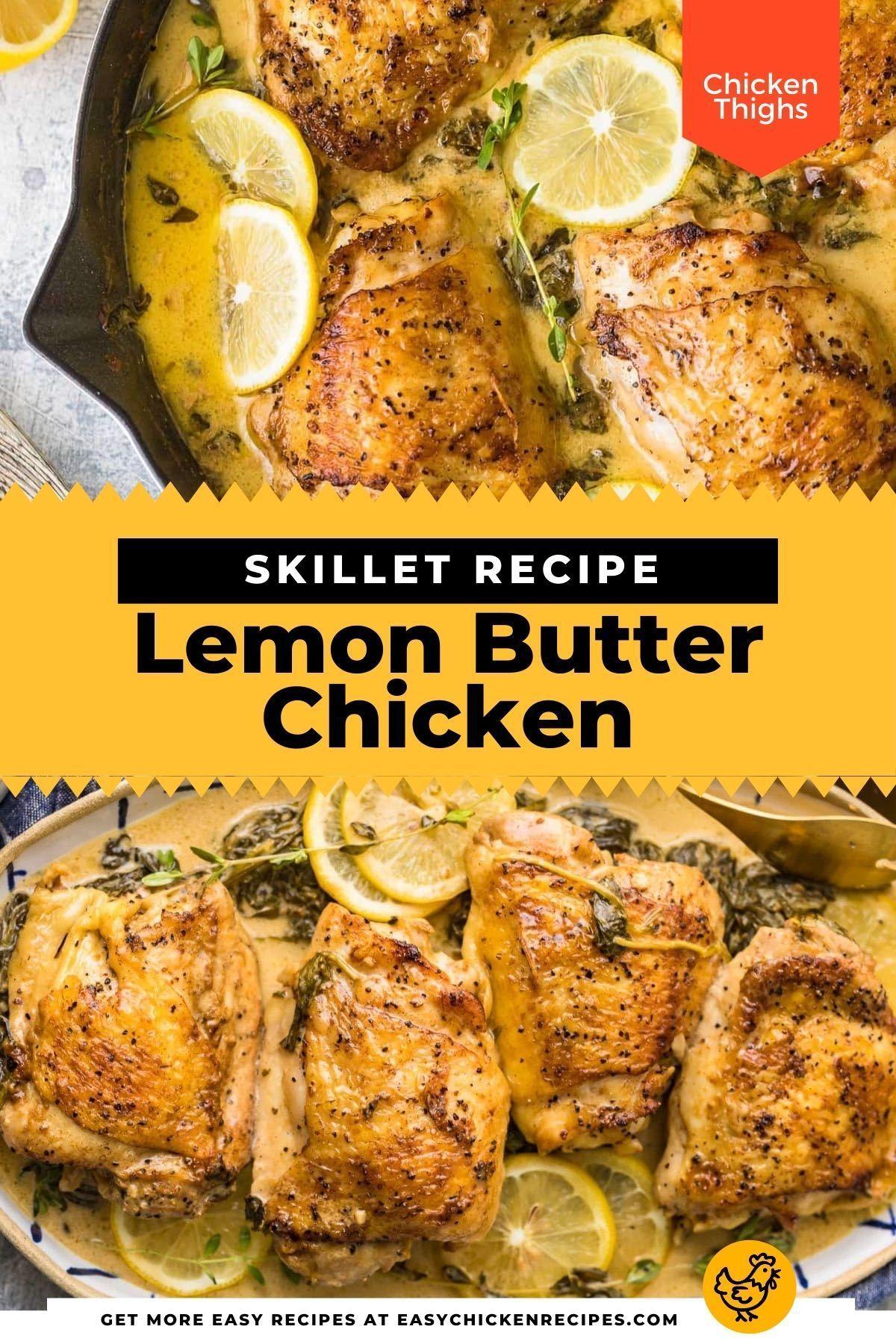 Lemon Butter Chicken Recipe Creamy Easy Chicken Recipes Video Recipe Easy Chicken Recipes Free Chicken Recipes Yummy Chicken Recipes