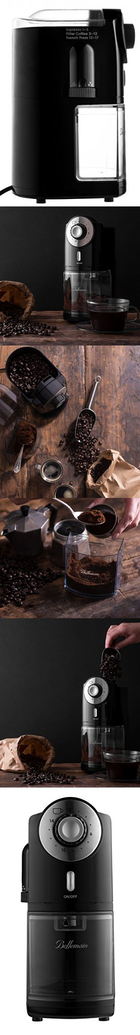 Top Rated Bellemain Burr Coffee Grinder with 17 Settings