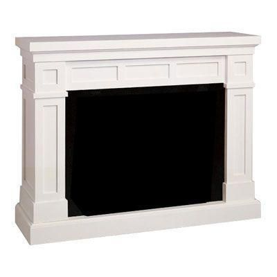 Chimney Free Dakota 62 In Fireplace Mantel In White Discontinued