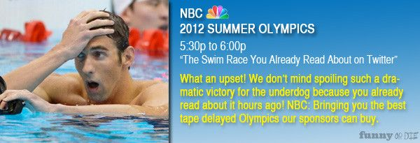 Olympics Tape-Delayed via Funny or Die