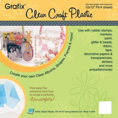 Grafix 12 X 12 Craft Plastic Sheets Clear 4 Pack With Images Clear Plastic Sheets Plastic Sheets Craft Supplies