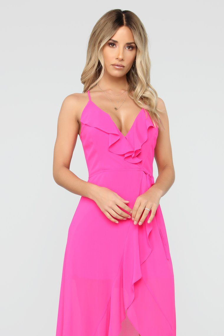 60a5291437a Clear My Schedule Chiffon Maxi Dress - Hot Pink in 2019
